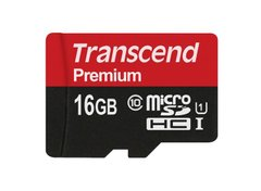 micro SD 16Gb Hi Speed Transcend