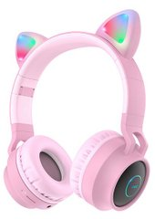 Hoco W27 Cat Ear Bluetooth Pink