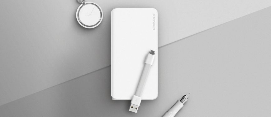 Momax iPower Minimal Type-C 10000mAh (IP55W) White